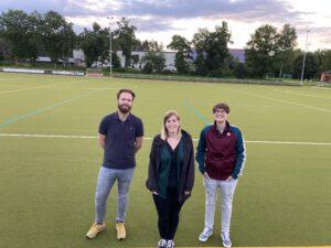 Team Sportbetrieb (v.l.n.r.): Thomas Gallmann, Malena Nopper, Katharina Furtwängler